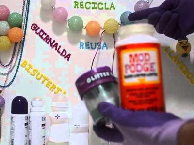 Manualidades utilizando las bolas de los desodorantes