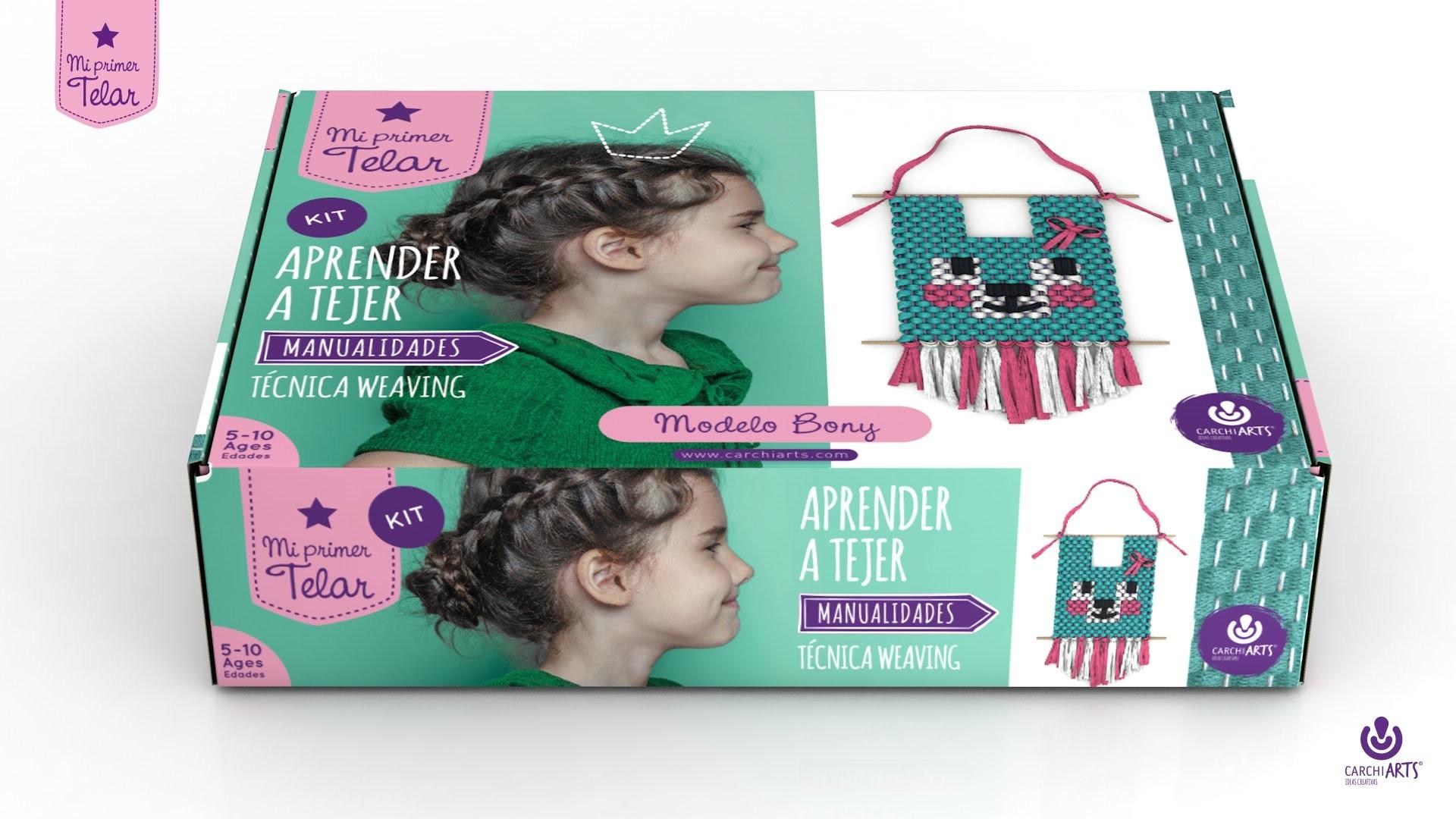 MI PRIMER TELAR: weaving. Manualidades para niños