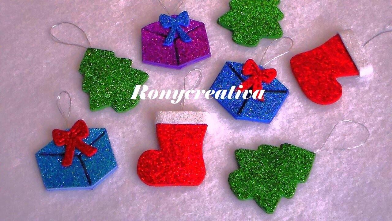 NAVIDAD ADORNOS PARA EL ARBOL. Christmas tree ornaments DIY