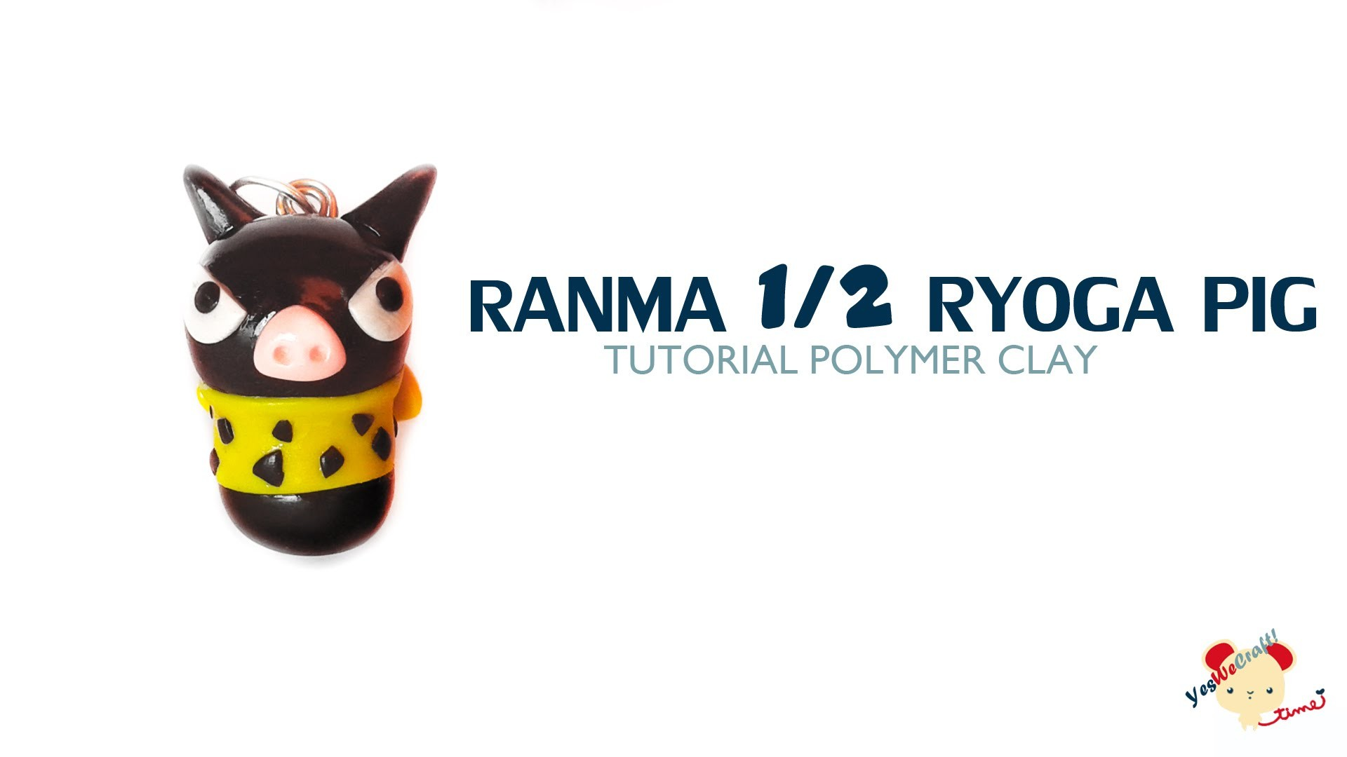 Ryoga Pig Ranma Polymer Clay Turorial. Cerdito Ryoga  de Arcilla Polimérica
