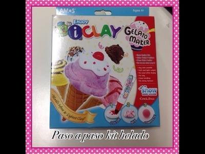 Tutorial como modelar  helado fimo i clay. ice cream polymer clay