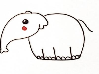 Cómo dibujar un elefante - Manualidades para niños