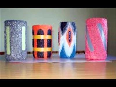 Manualidades con  arena de colores 7