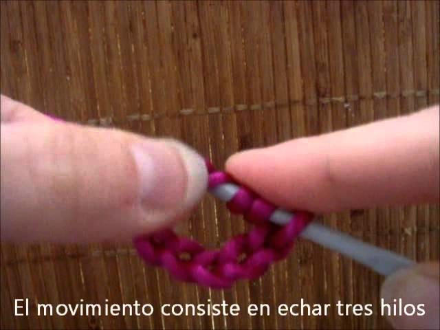 Como hacer el punto alto triple a ganchillo