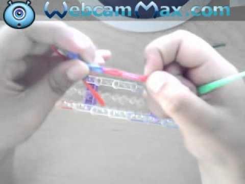 Como hacer el simbolo de la paz con gomitas Rainbow loom