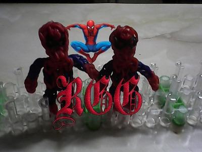Como hacer un Spider-man con gomitas.(Rainbow Loom)