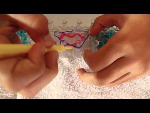 Como hacer una flor con Rainbow loom