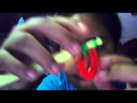 Como hacer una fresita de gomitas (ligas) sin telar solo con ganchillo