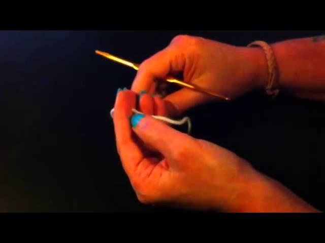 Ganchillo: Cómo hacer punto deslizado o raso - hacer el punto alto doble con ganchillo