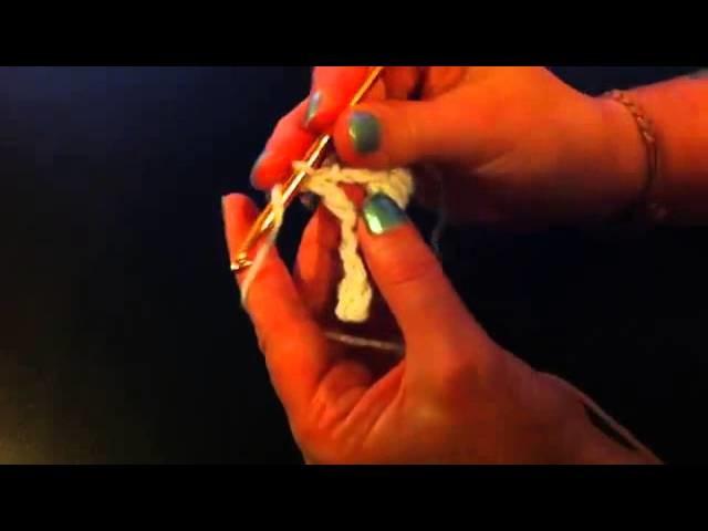 Ganchillo: Cómo hacer punto cruzado - hacer el punto alto doble con ganchillo