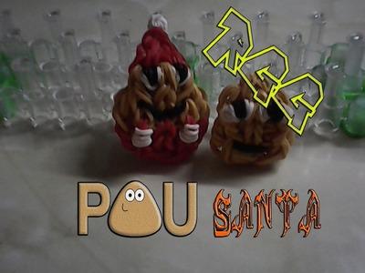 Haciendo Pou Santa con gomitas.(Rainbow Loom)