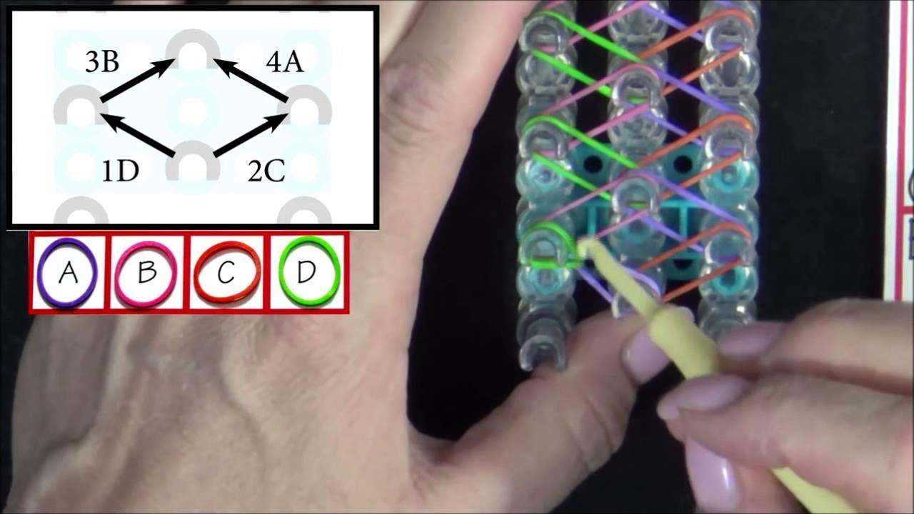 Rainbow Loom Diamond Bracelet  lesson 2