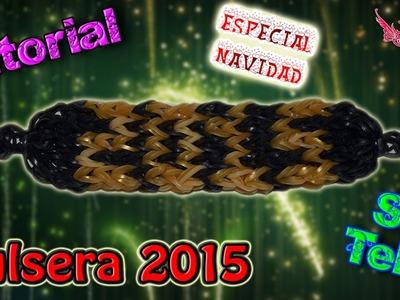 ♥ Tutorial[ESPECIAL NAVIDAD]: Pulsera 2015 (con ganchillo) ♥