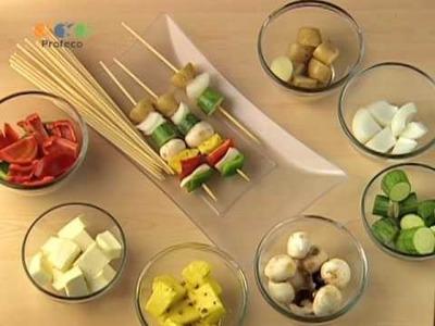Brochetas de vegetales [