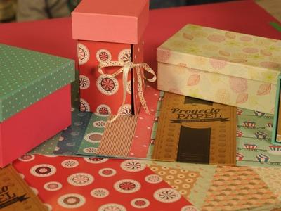 Como forrar una caja con papel -  Trazado de Caja -  Proyecto Papel