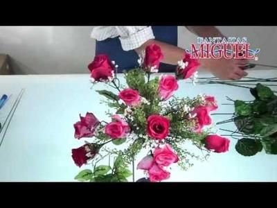 Como hacer un Arreglo floral para San Valentin.