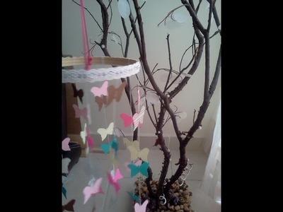 Cómo hacer un móvil de mariposas?