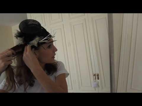 Cómo llevar un tocado de manera informal. How to wear a headdress in a casual look