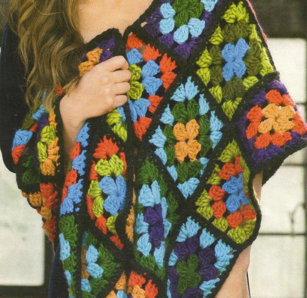Como Tejer Estola con cuadrados de colores a crochet