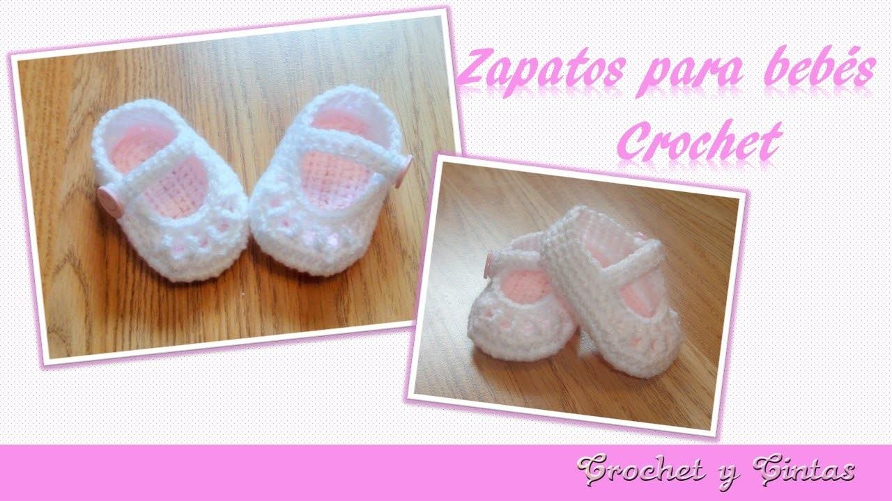 Como tejer zapaticos,  escarpines crochet (ganchillo) para bebé  – Parte 2