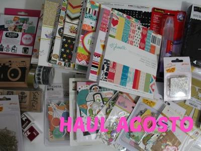 Compras de material para Scrapbook y más.  Haul Agosto