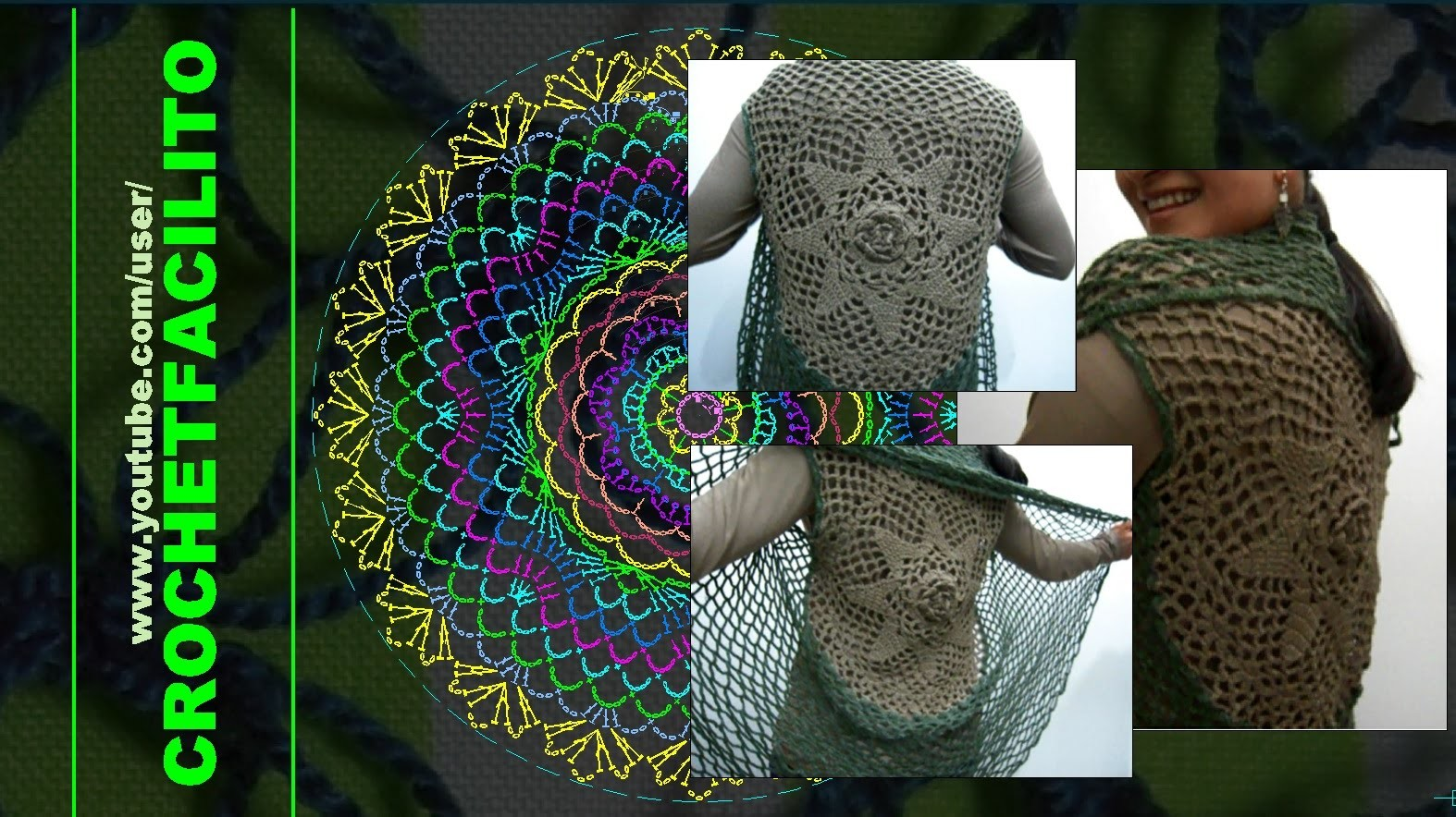 CROCHET - 11. UNA FLOR GIGANTE EN TU ESPALDA. A BIG FLOWER ON YOUR BACK !!