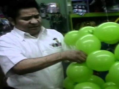Decoracion con globos esfera bipolo