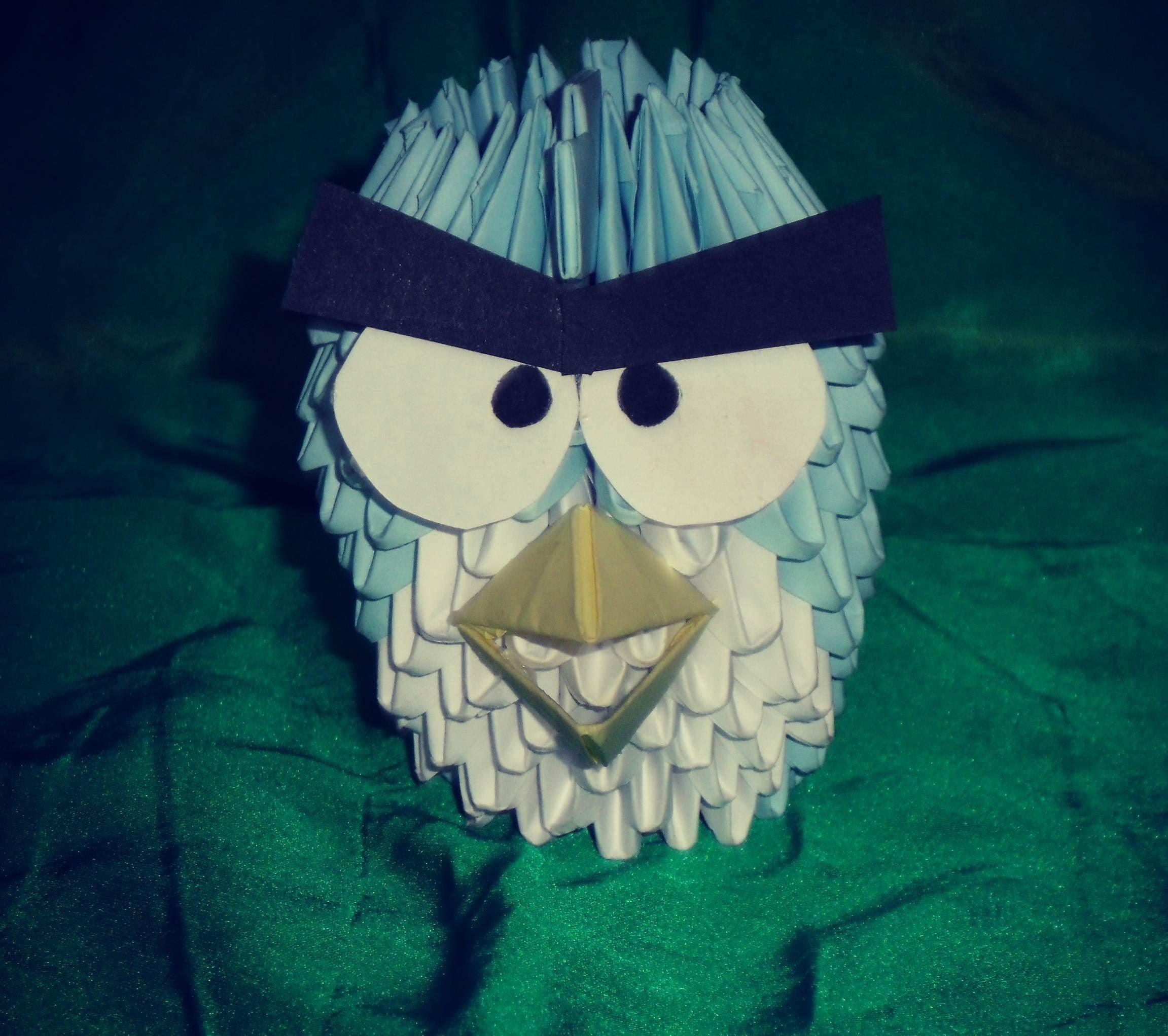 DIY: ANGRY BIRD ORIGAMI 3D EN ESPAÑOL ஐ17ஐ