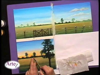 El arte de iluminar paisajes en acrílico (II)