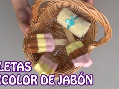 Elabora unas paletas tricolor de jabón - Ole Arte Manualidades