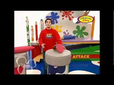 Esta Mañana en playhouse Disney de disney channel en lugar de Macius emiten Art attack