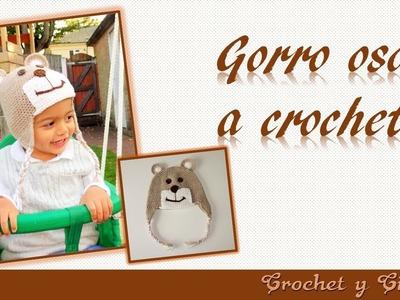 Gorro de oso tejido a crochet ganchillo para niños parte 1