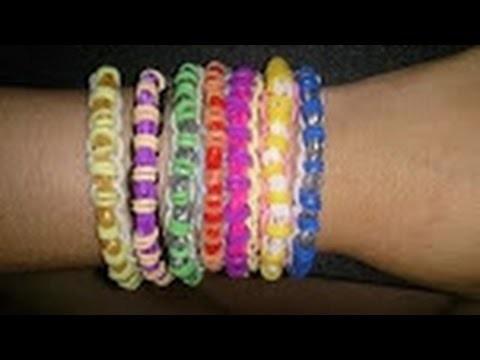 Hacer pulseras de gomitas - Rainbow loom single chain