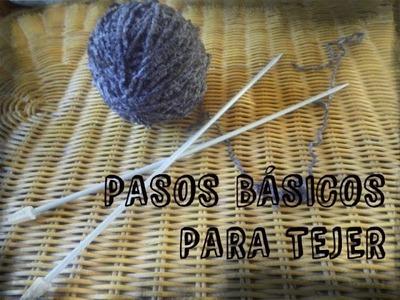 Lo básico para tejer