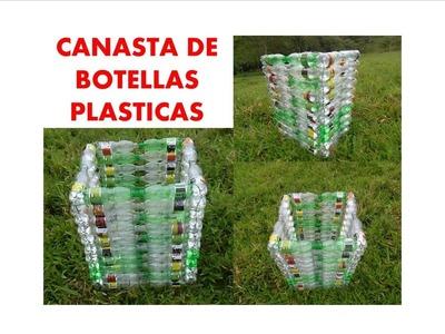 MANUALIDADES _ Como hacer una canasta con botellas recicladas - RECICLAJE