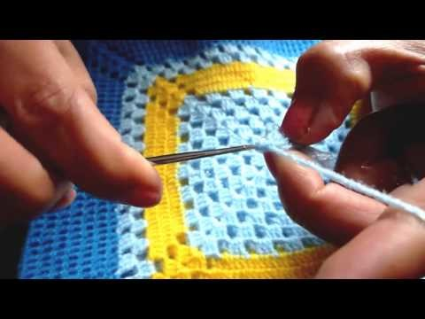 Mi colcha a crochet Parte I