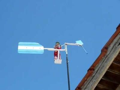 Muñeco movido por el viento