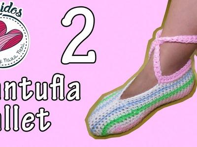 Pantuflas estilo zapatilla de ballet - TUTORIAL Pt. 2.2