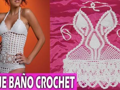 Traje de baño para mujer tejidos en crochet - Diseños ideas