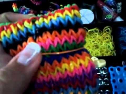 Caja de rainbow loom inaguracion del canal♥