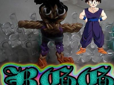Como hacer a Gohan Joven ((Dragon Ball)) con gomitas.(Rainbow Loom)