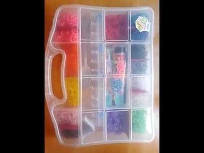 Como organizo mis gomitas. Rainbow Loom