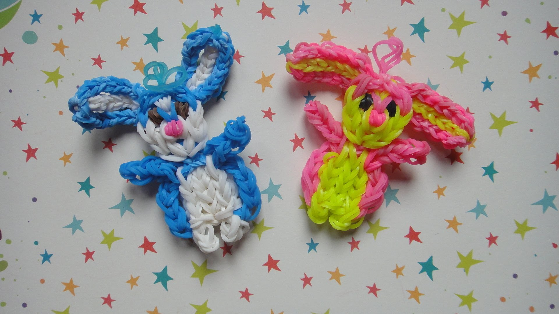 Conejo de gomitas con telar Rabbit on rainbow loom