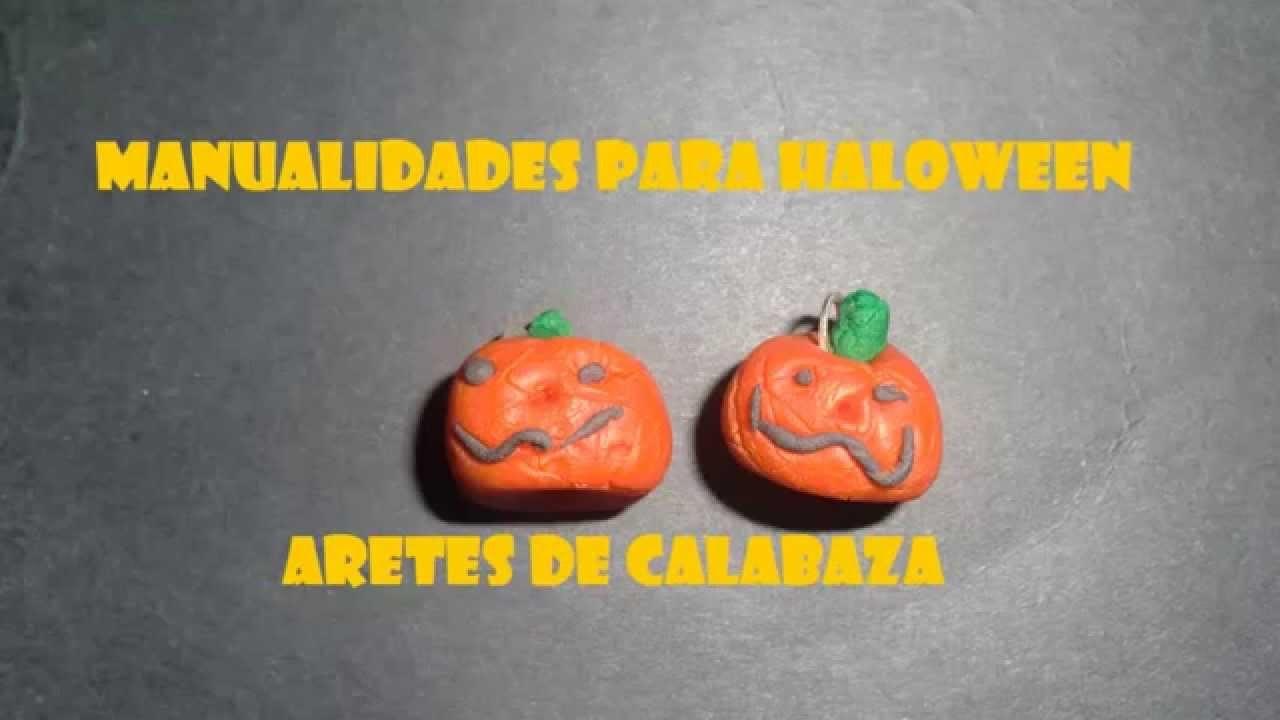 Manualidades Para Halloween,Calabaza aretes o dijes aterradores