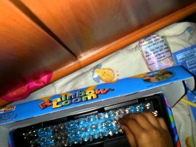 Mi telar rainbow loom para hacer pulseras de ligas