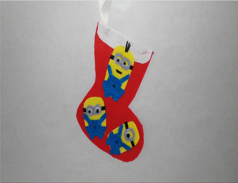Como hacer botas de navidad de minions adornos navideños tutorial manualidades DIY