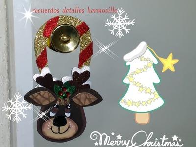 DIY como hacer Colgante para puerta navideño de reno Christmas