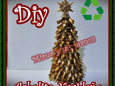 Diy.Como realizar un arbolito navideño reciclando. Diy.How to make a Christmas tree recycling.