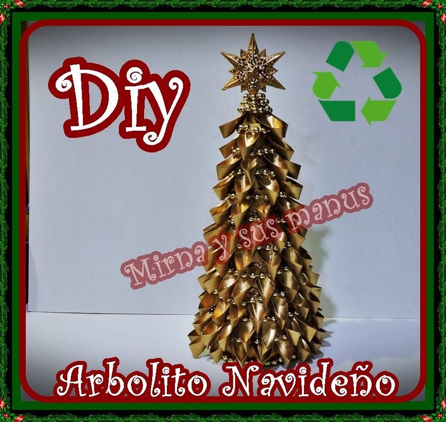 Diy.Como realizar un arbolito navideño reciclando. Diy.How to make a Christmas tree recycling.