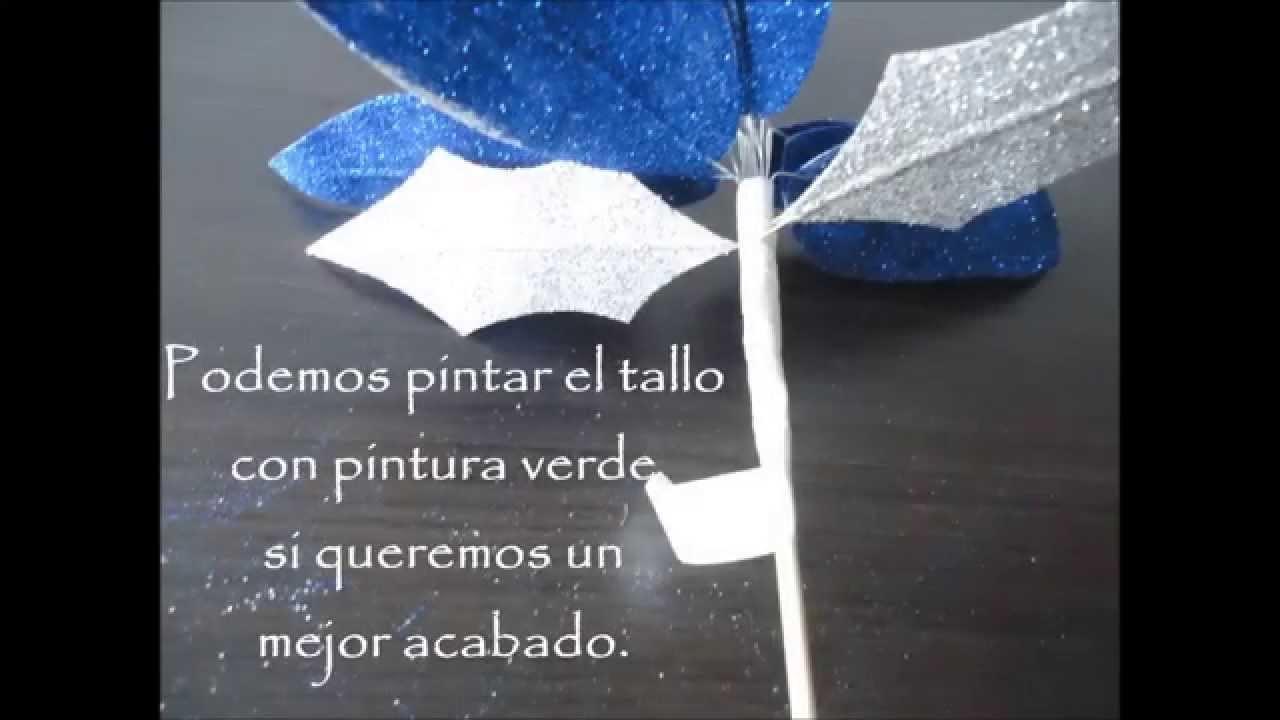 Flor navideña - Christmas Flower DIY